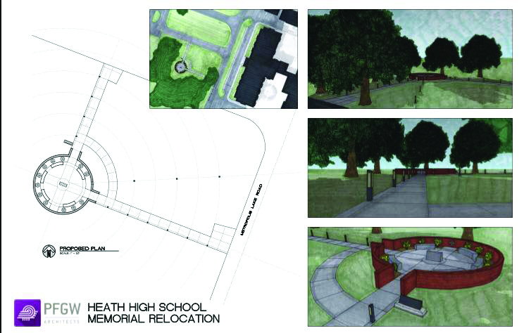 Heath High School memorial to be relocated