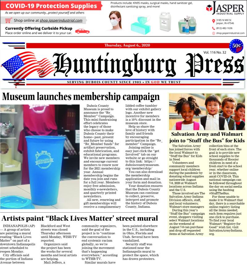 The Huntingburg Press 8-6-20