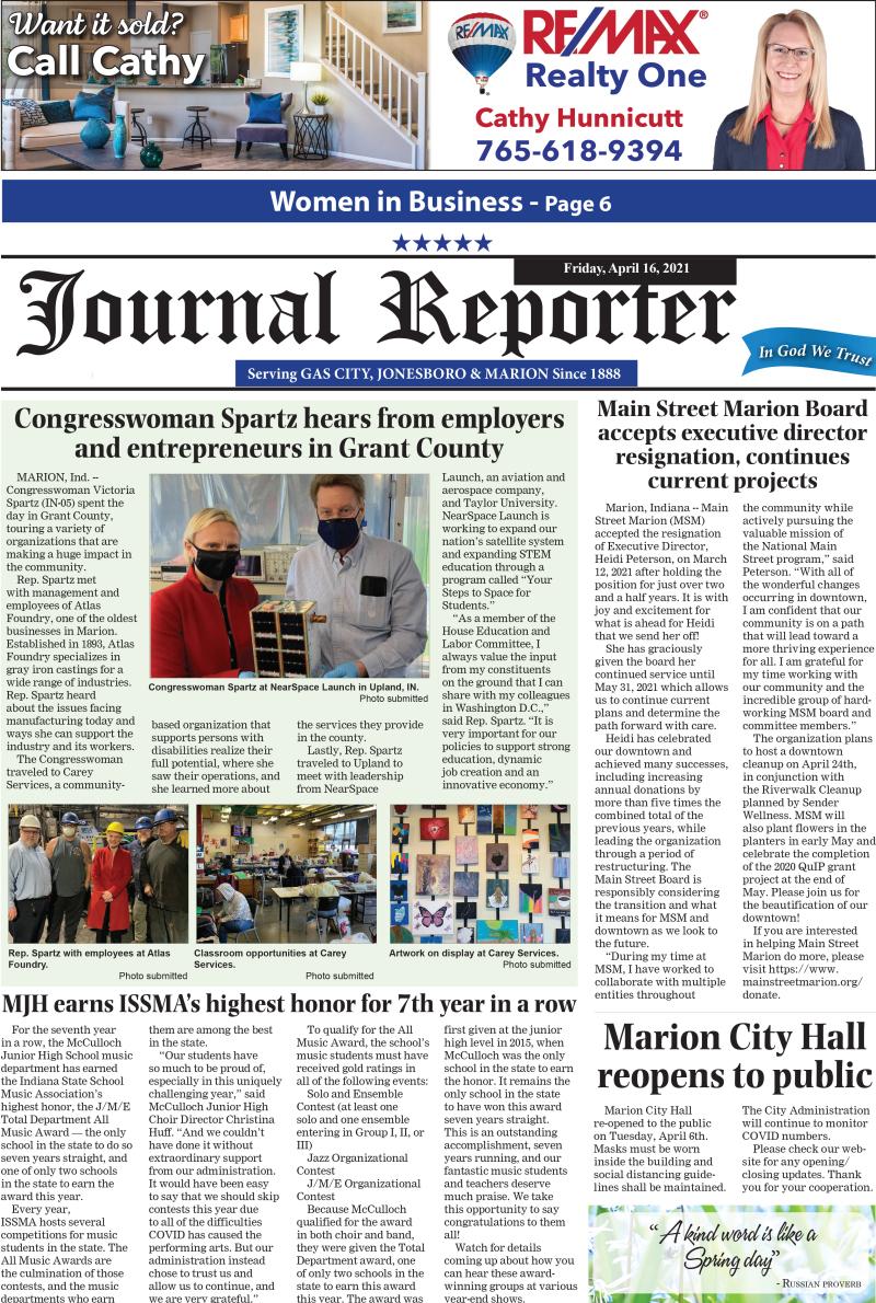 Journal Reporter 4-16-21