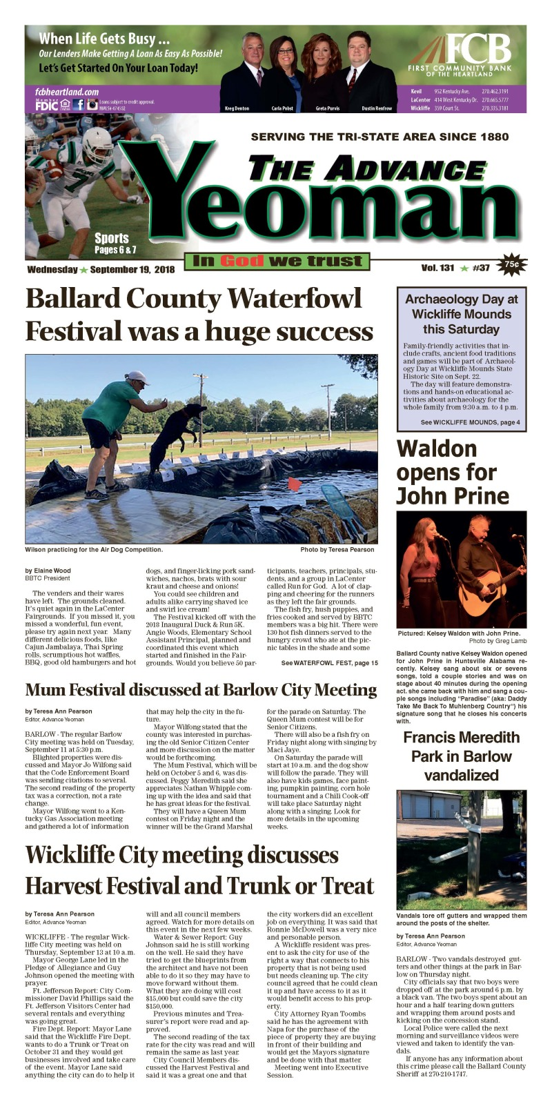 Advance Yeoman 9-19-18