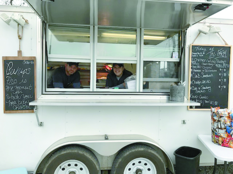 Infinity Farms food truck serves lunch
