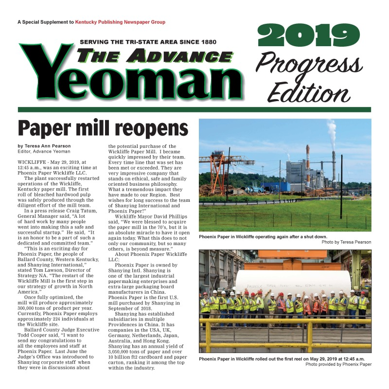 Advance Yeoman Progress edition July 2019