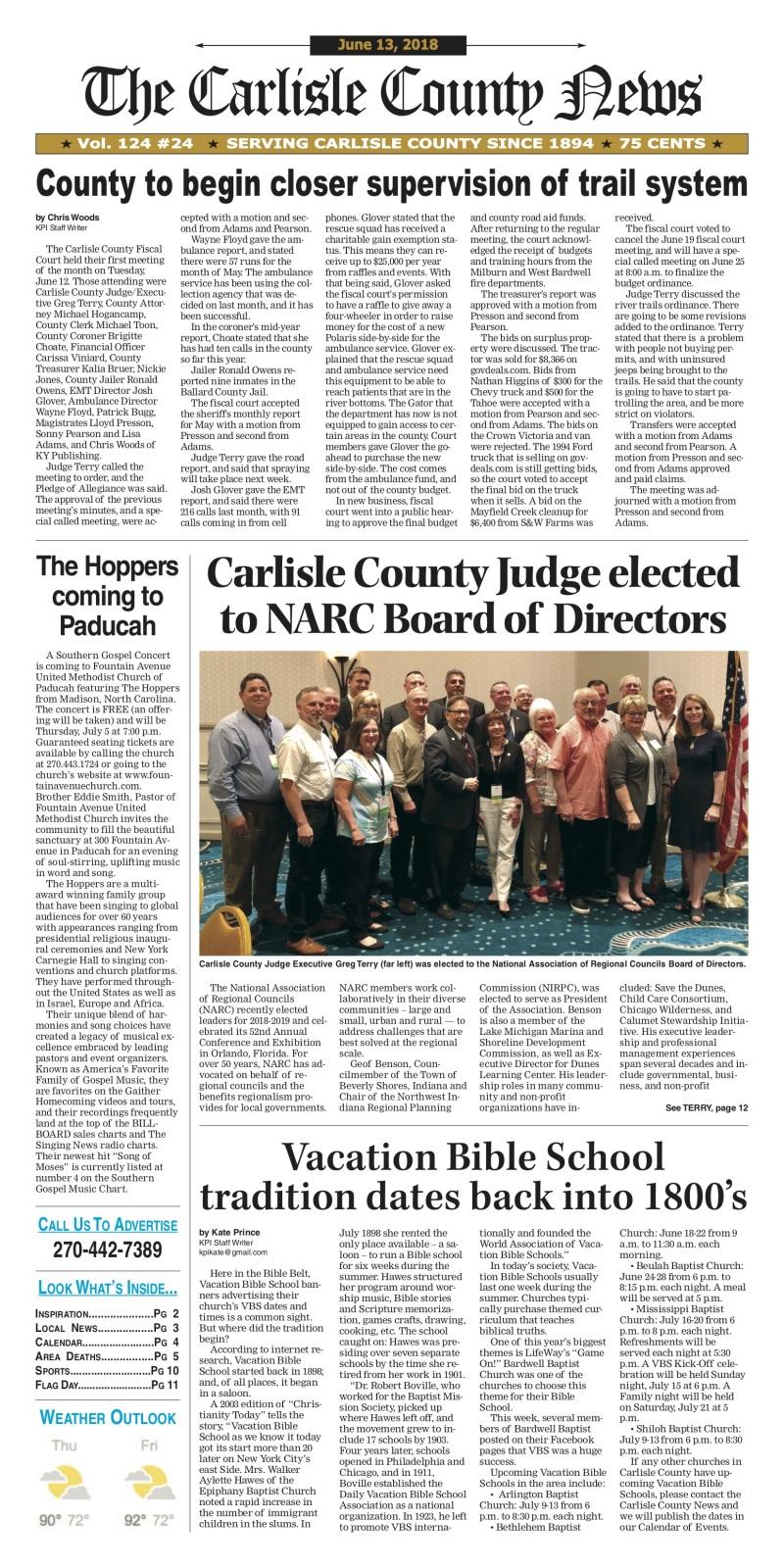 Carlisle County News  6-13-18