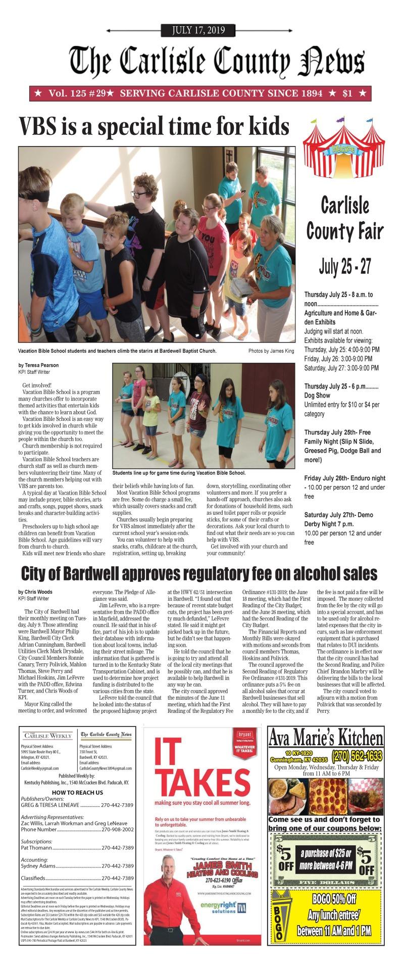 Carlisle County News  7-17-19