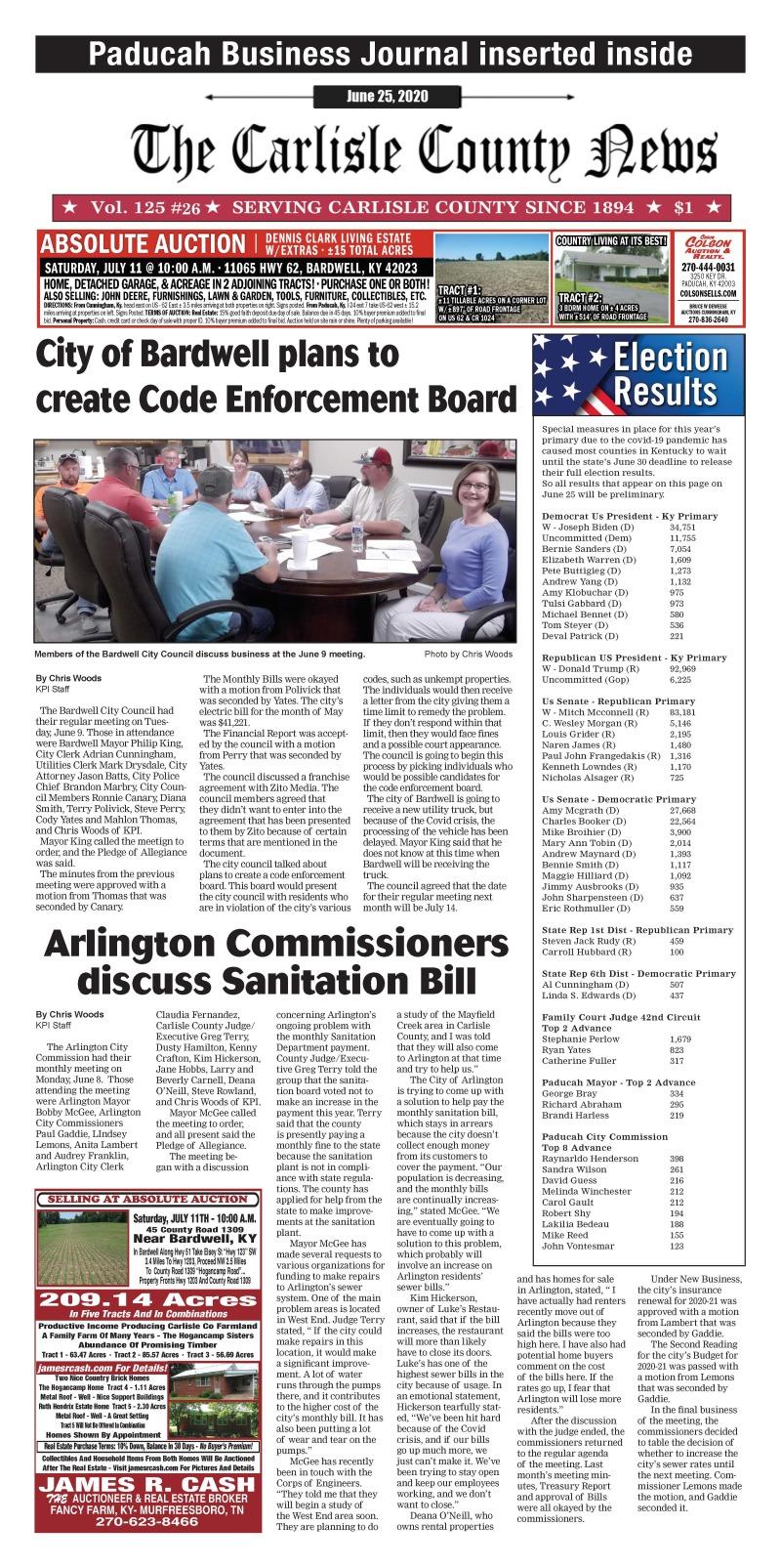 Carlisle County News 6-25-20