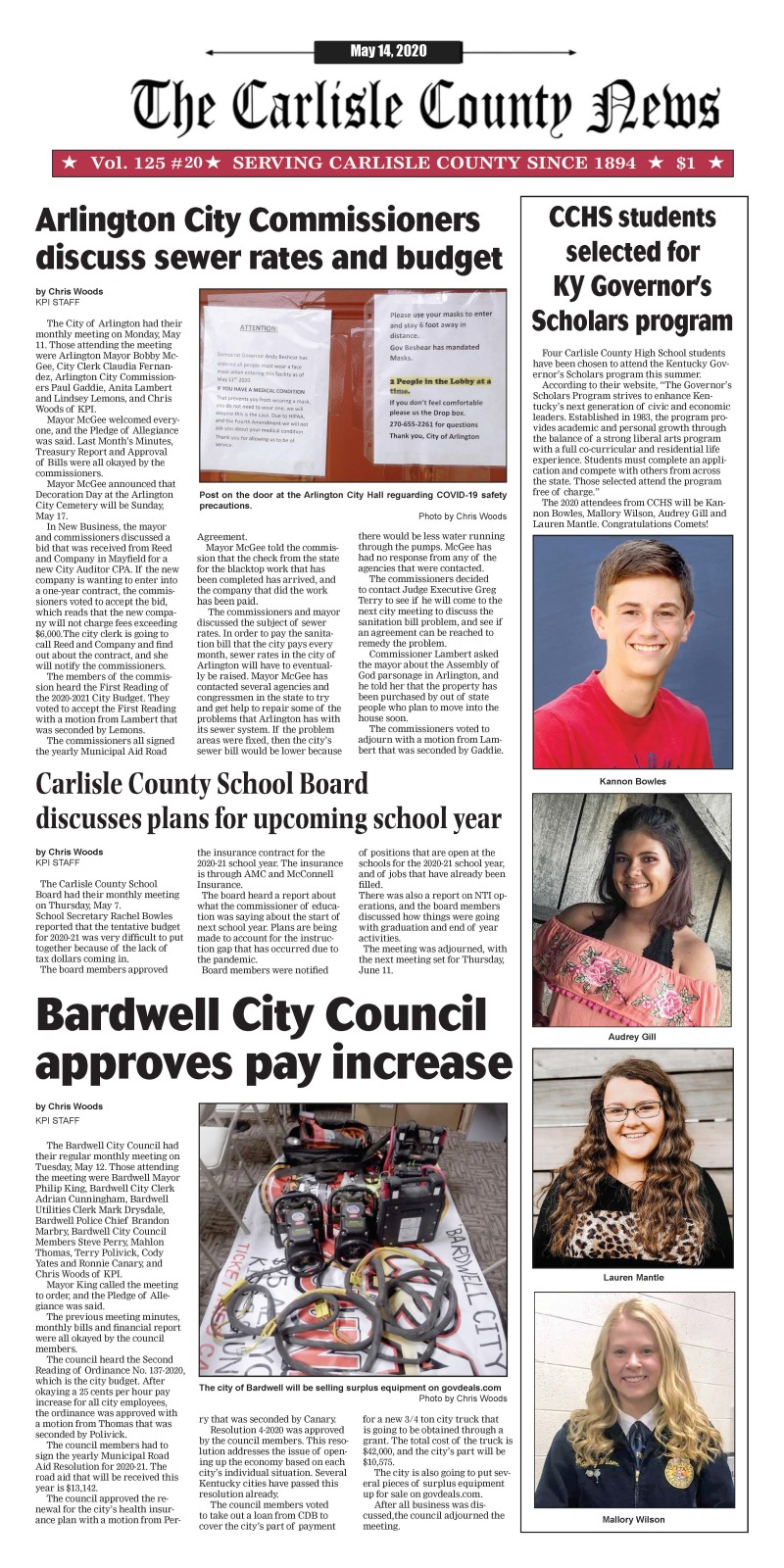 Carlisle County Weekly 5-14-20