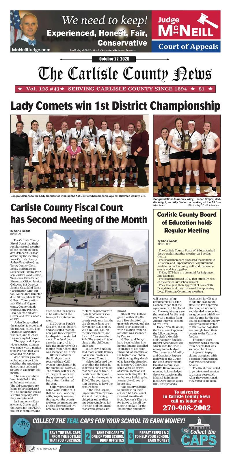 Carlisle County News  10-22-20