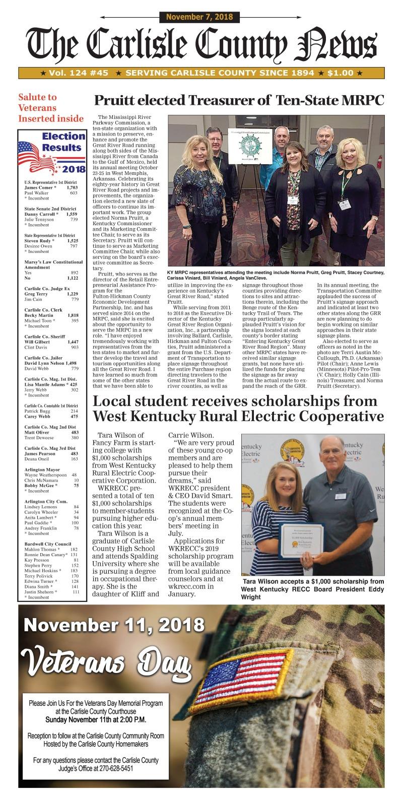 Carlisle County News  11-7-18