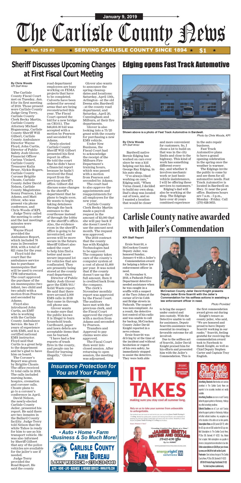 Carlisle County News  1-9-19