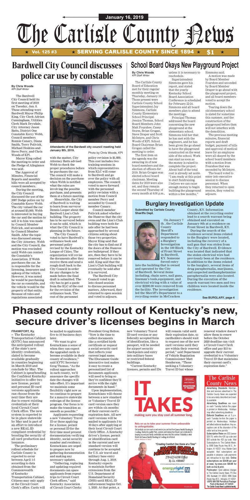 Carlisle County News  1-16-19