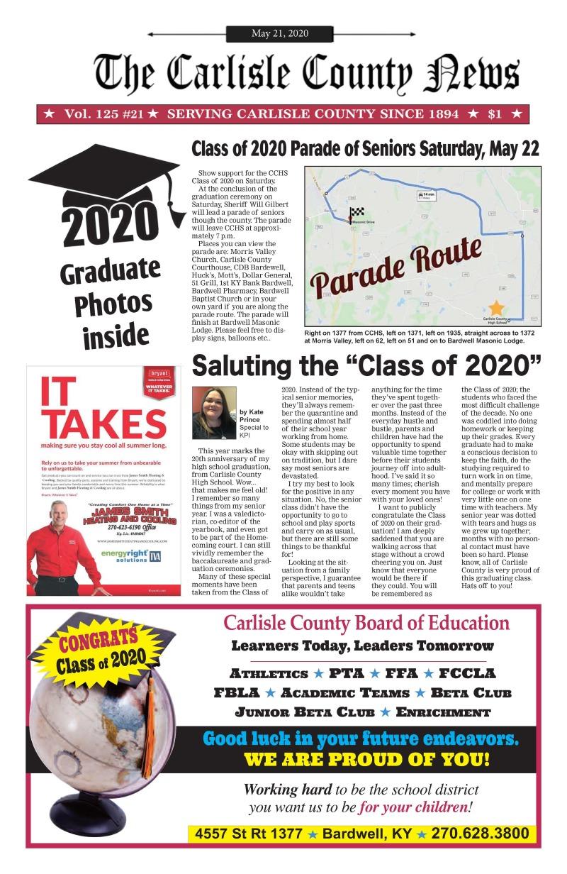 Carlisle County News  5-21-20