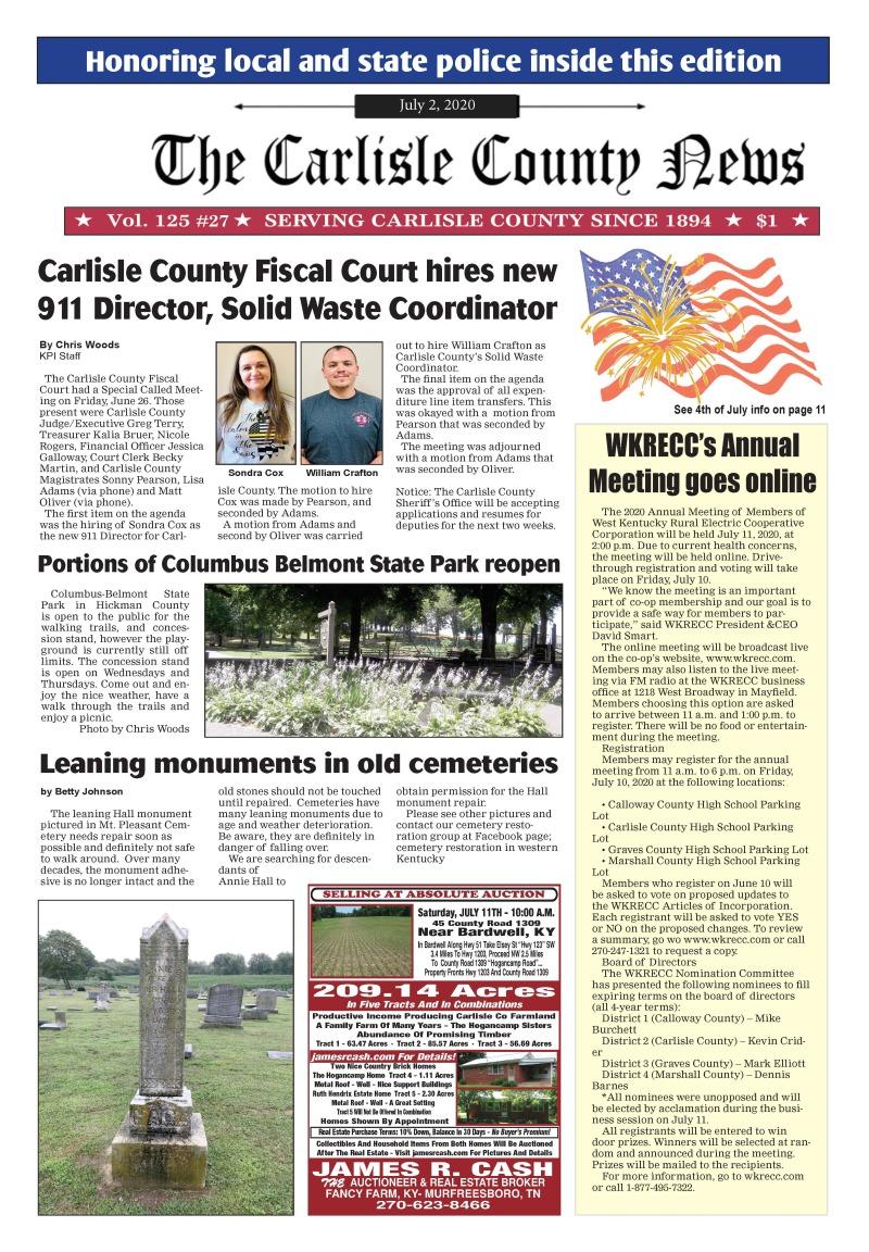Carlisle County News  7-2-20