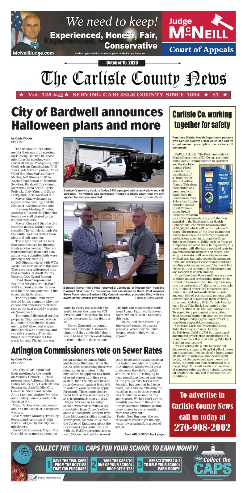 Carlisle County News 10-15-20