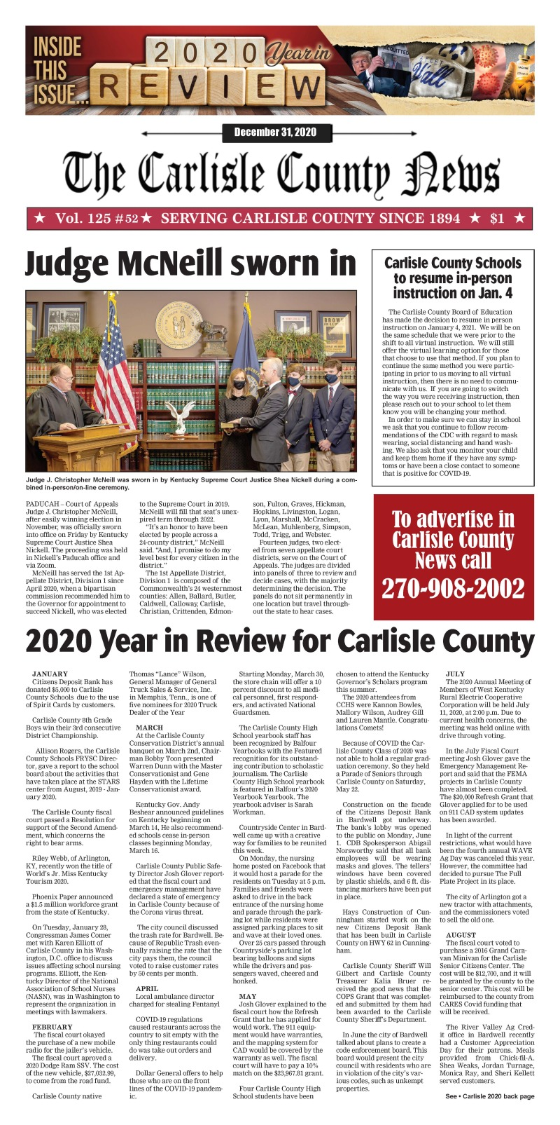 Carlisle County News 12-31-20