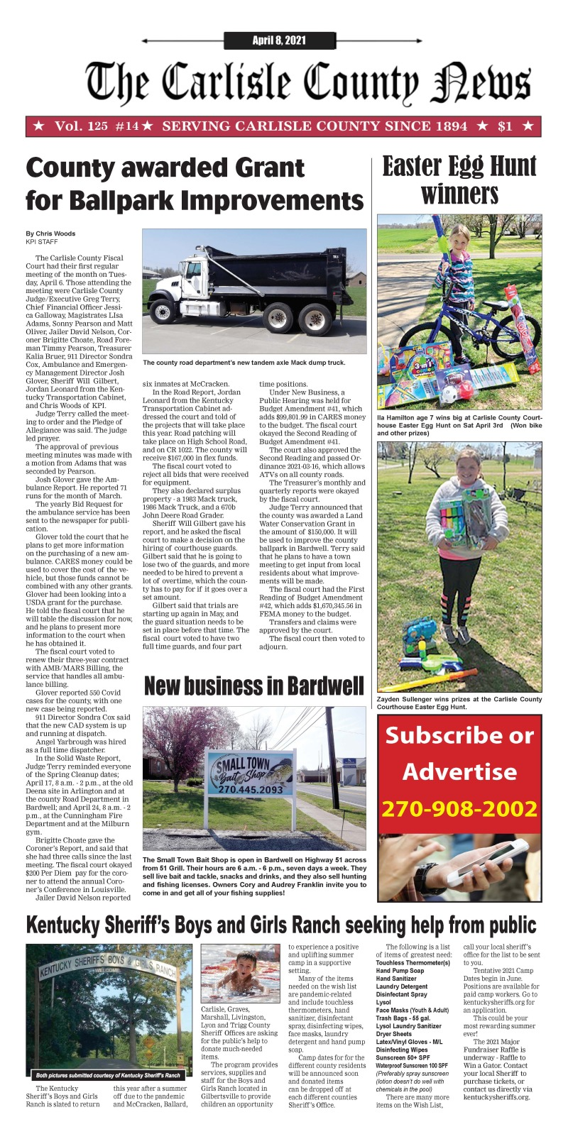 Carlisle County News 4-8-21