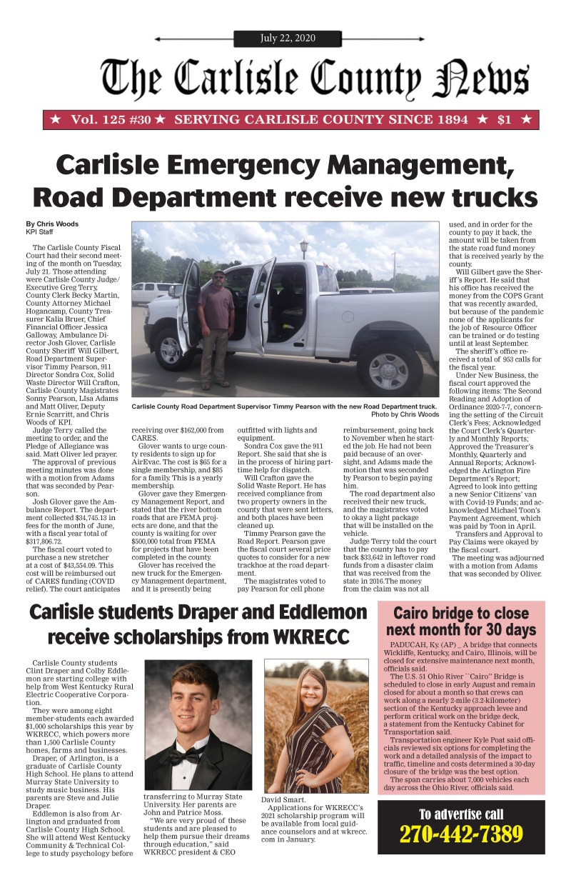 Carlisle County News 7-23-20