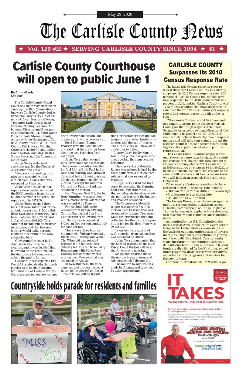 Carlisle County News 5-28-20