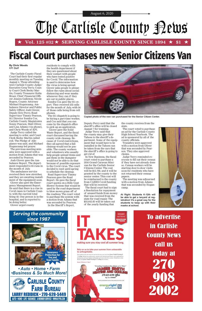 Carlisle County News 8-6-20