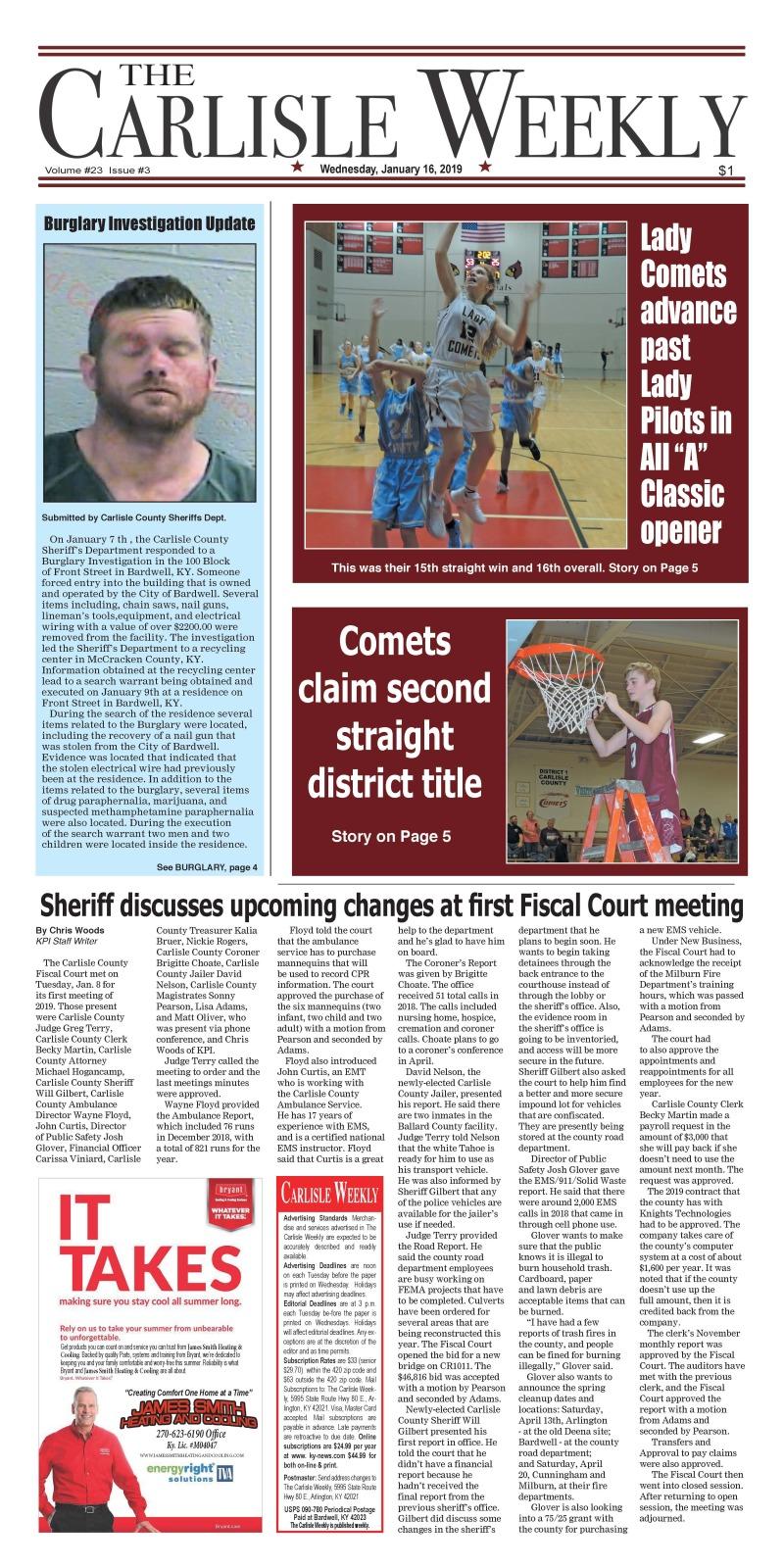 Carlisle County Weekly 1-16-19