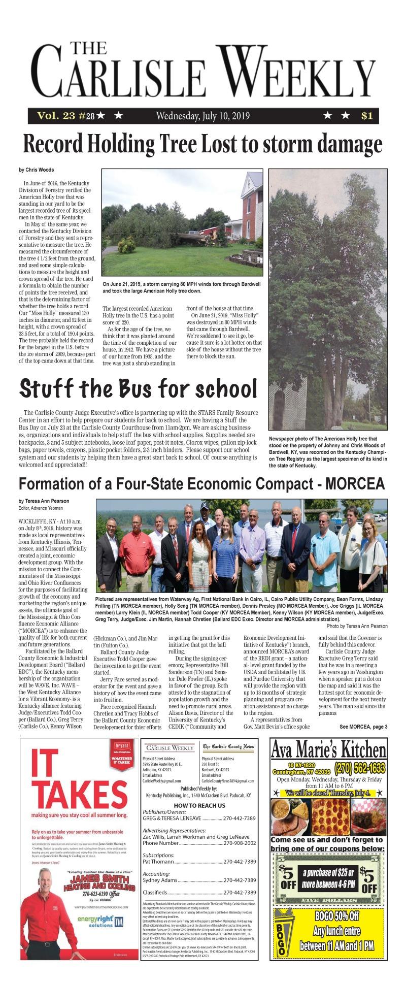 Carlisle County Weekly 7-10-19