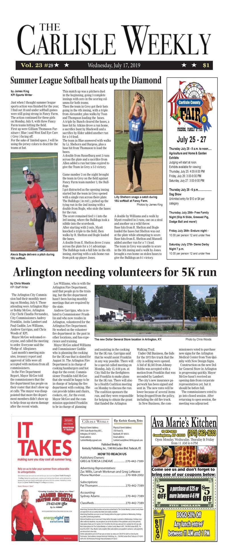 Carlisle County Weekly 7-17-19