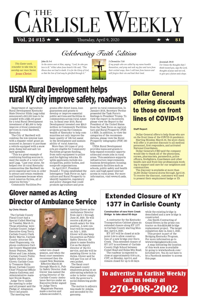 Carlisle County Weekly 4-9-20