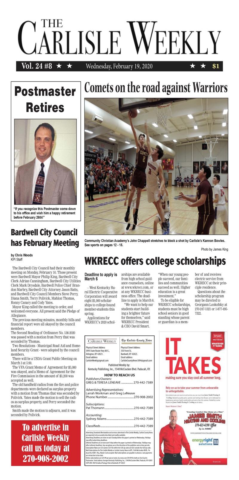 Carlisle County Weekly 2-18-20
