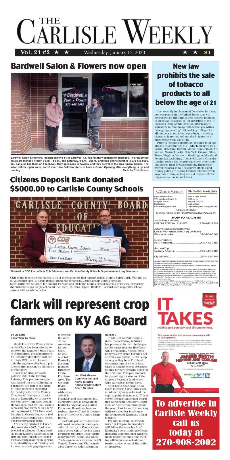 Carlisle County Weekly 1-15-20