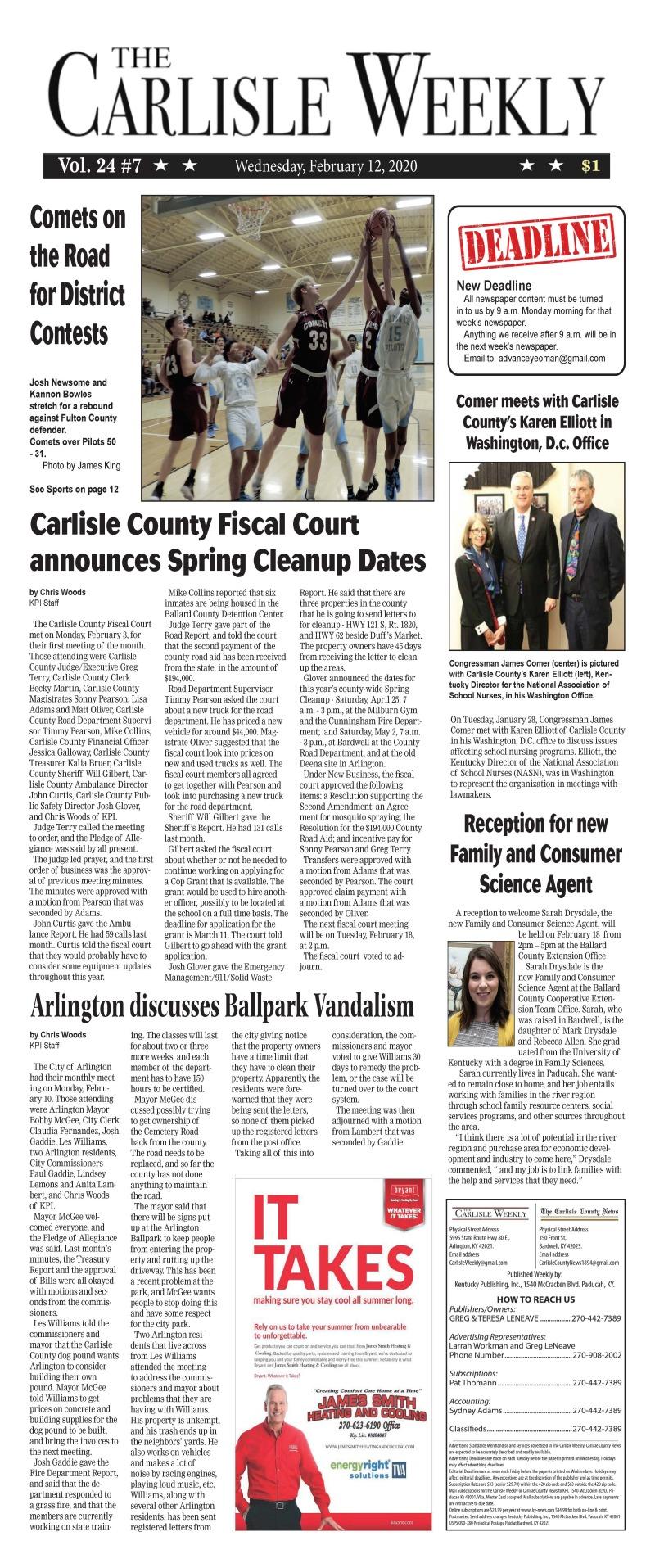 Carlisle County Weekly 2-12-20