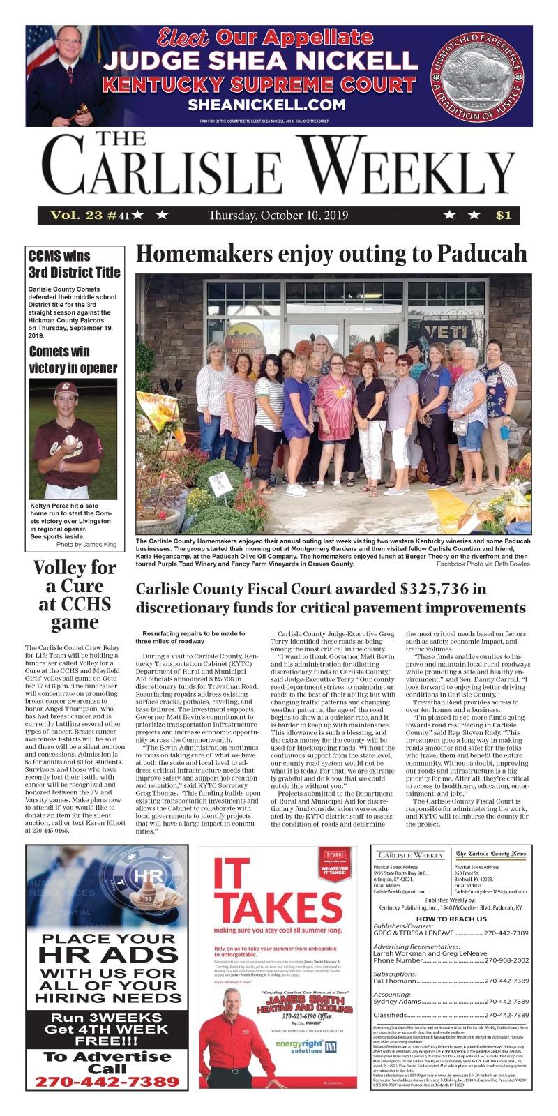 Carlisle County Weekly 10-10-19
