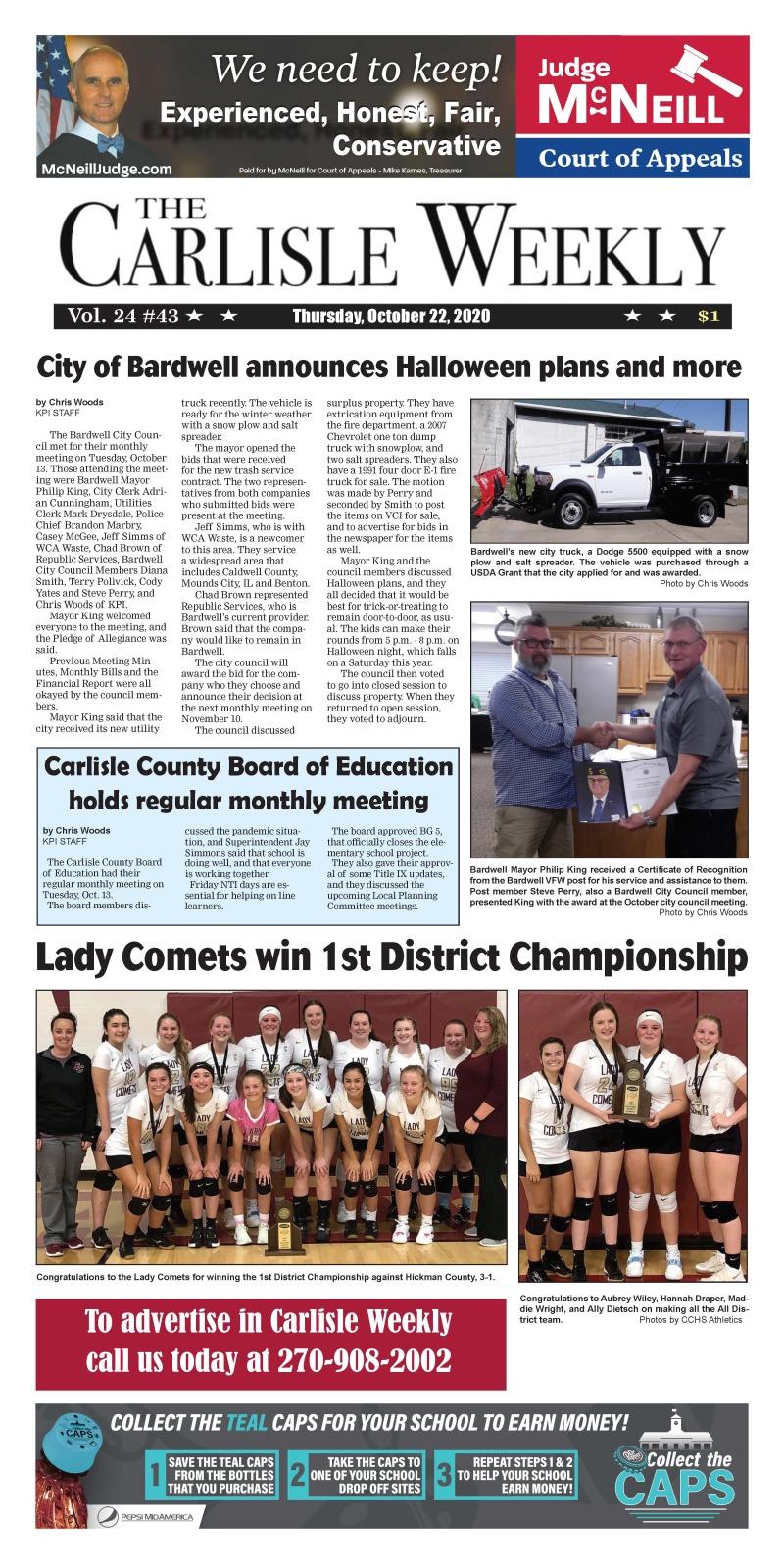 Carlisle County Weekly 10-22-20