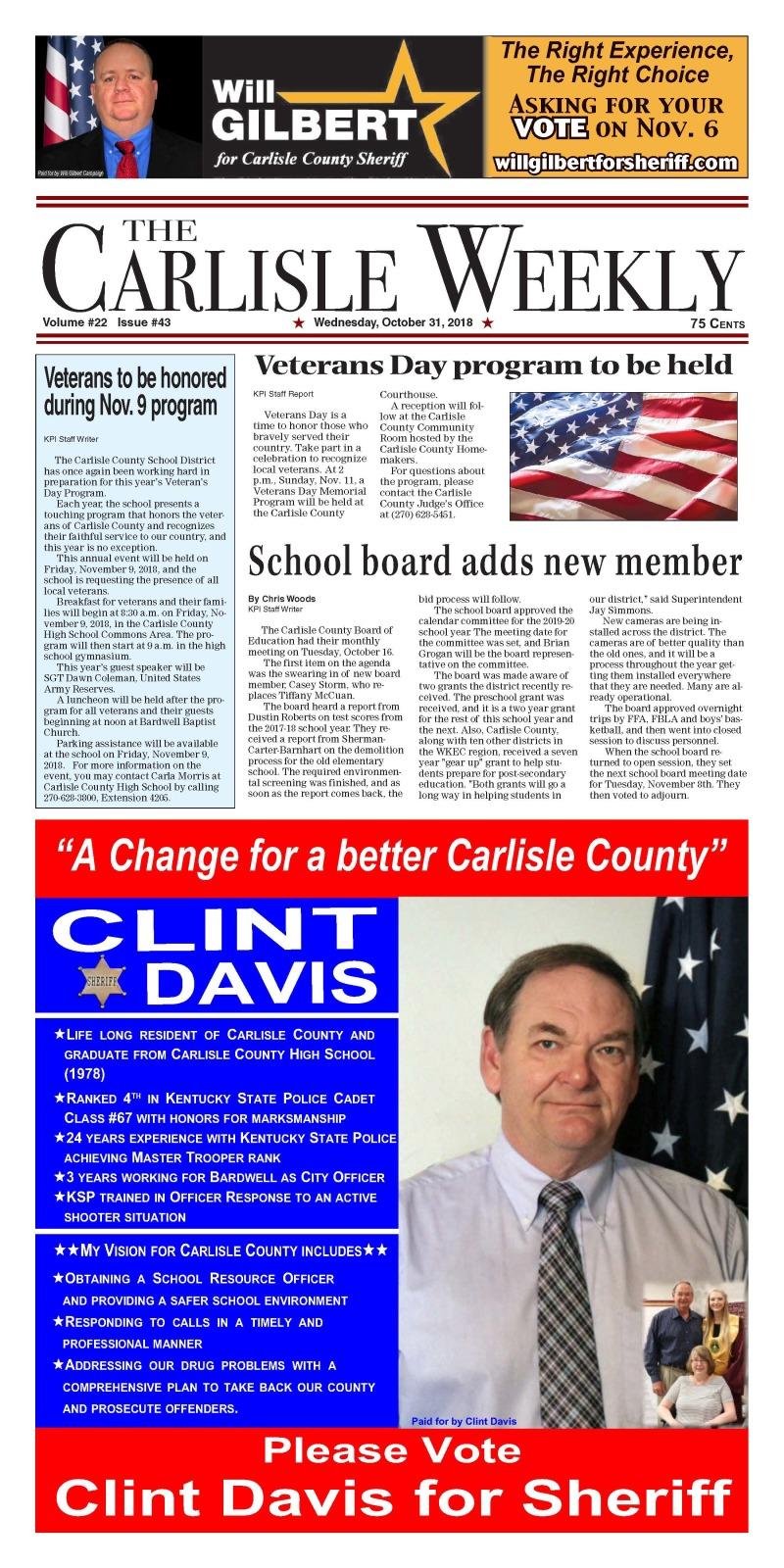 Carlisle County Weekly 10-31-18