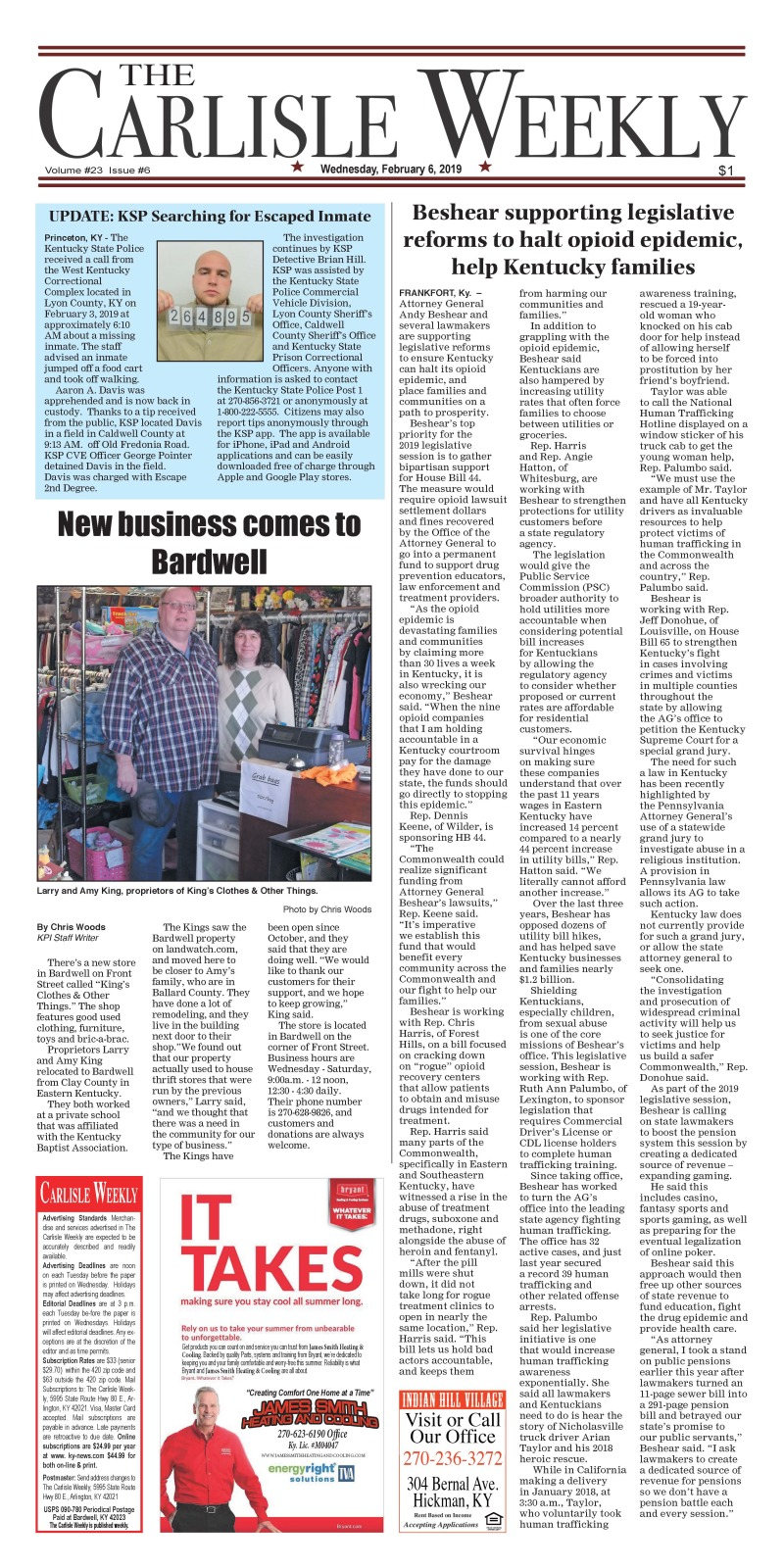 Carlisle County Weekly 2-6-19