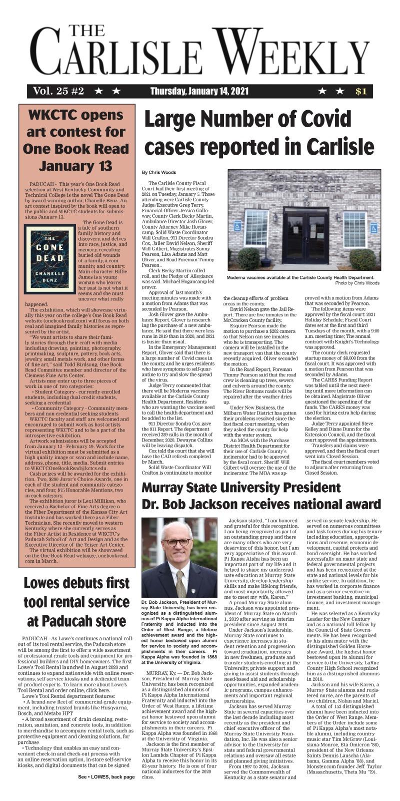 Carlisle County Weekly 1-14-21