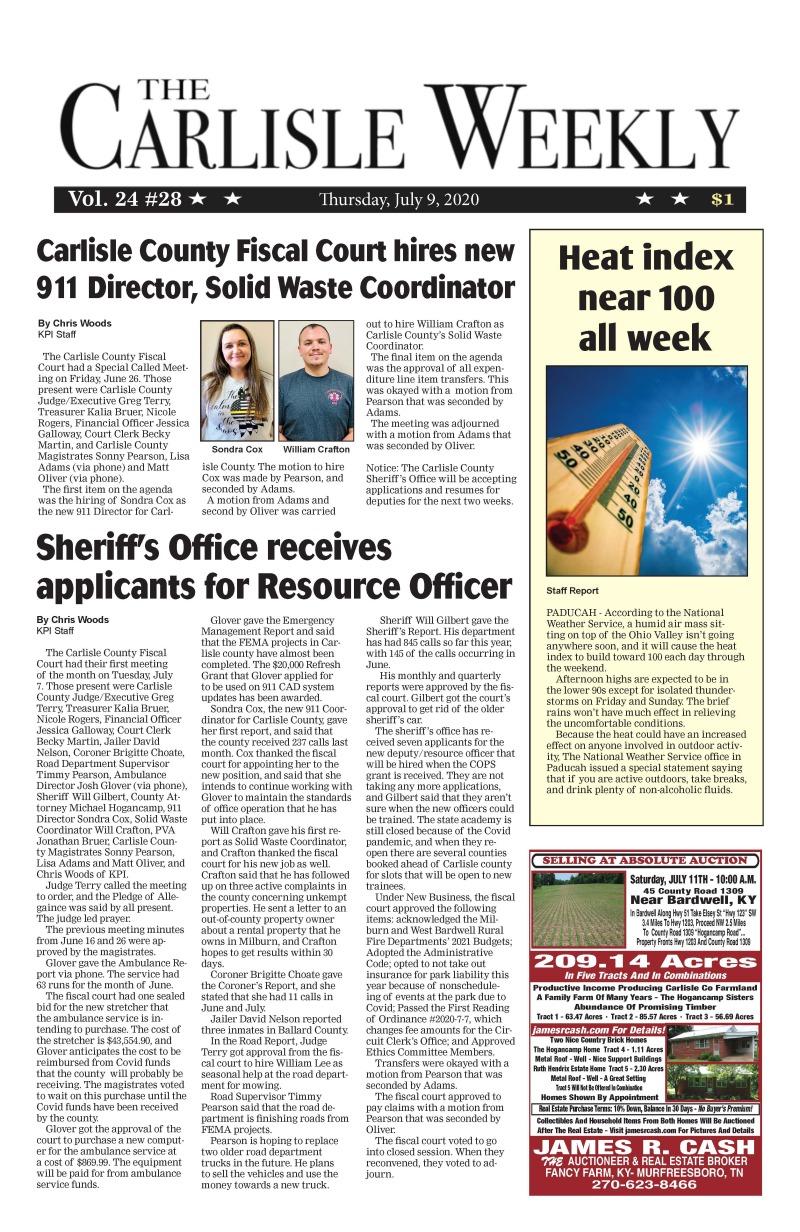 Carlisle County Weekly 7-9-20
