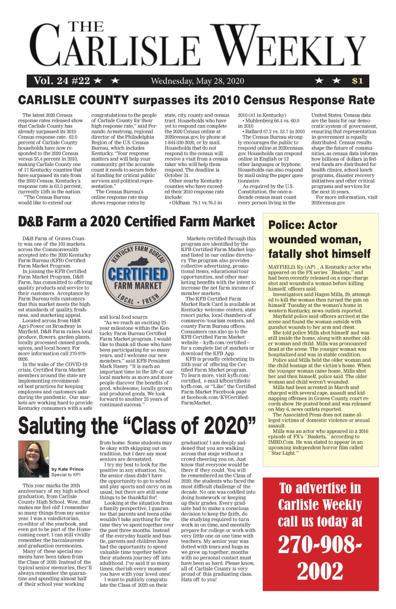 Carlisle County Weekly 5-28-20