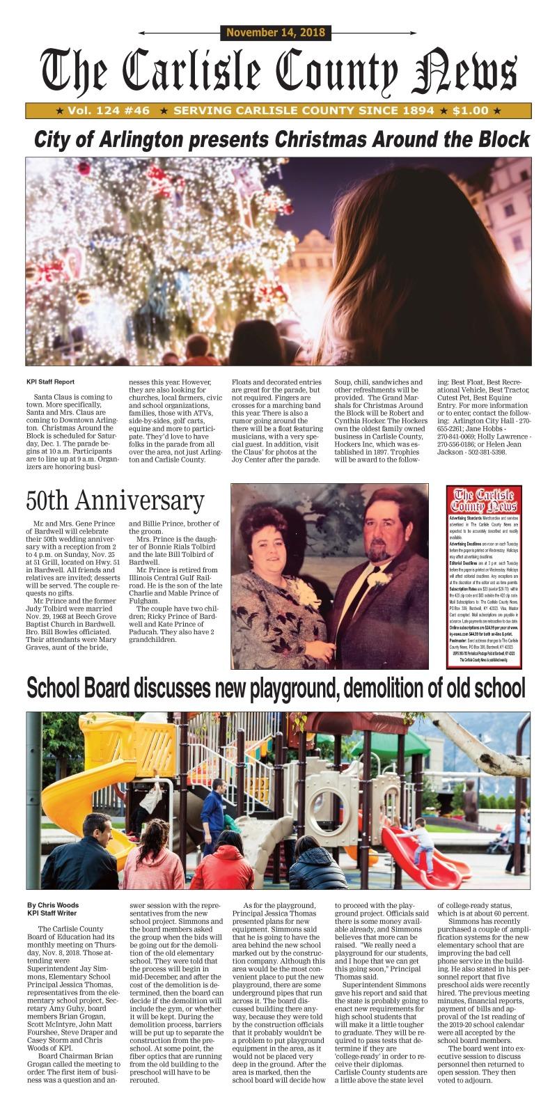 Carlisle County News  11-14-18