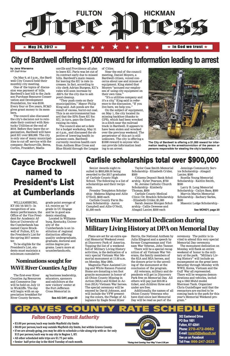 Fulton-Hickman Free Press 5-24-17