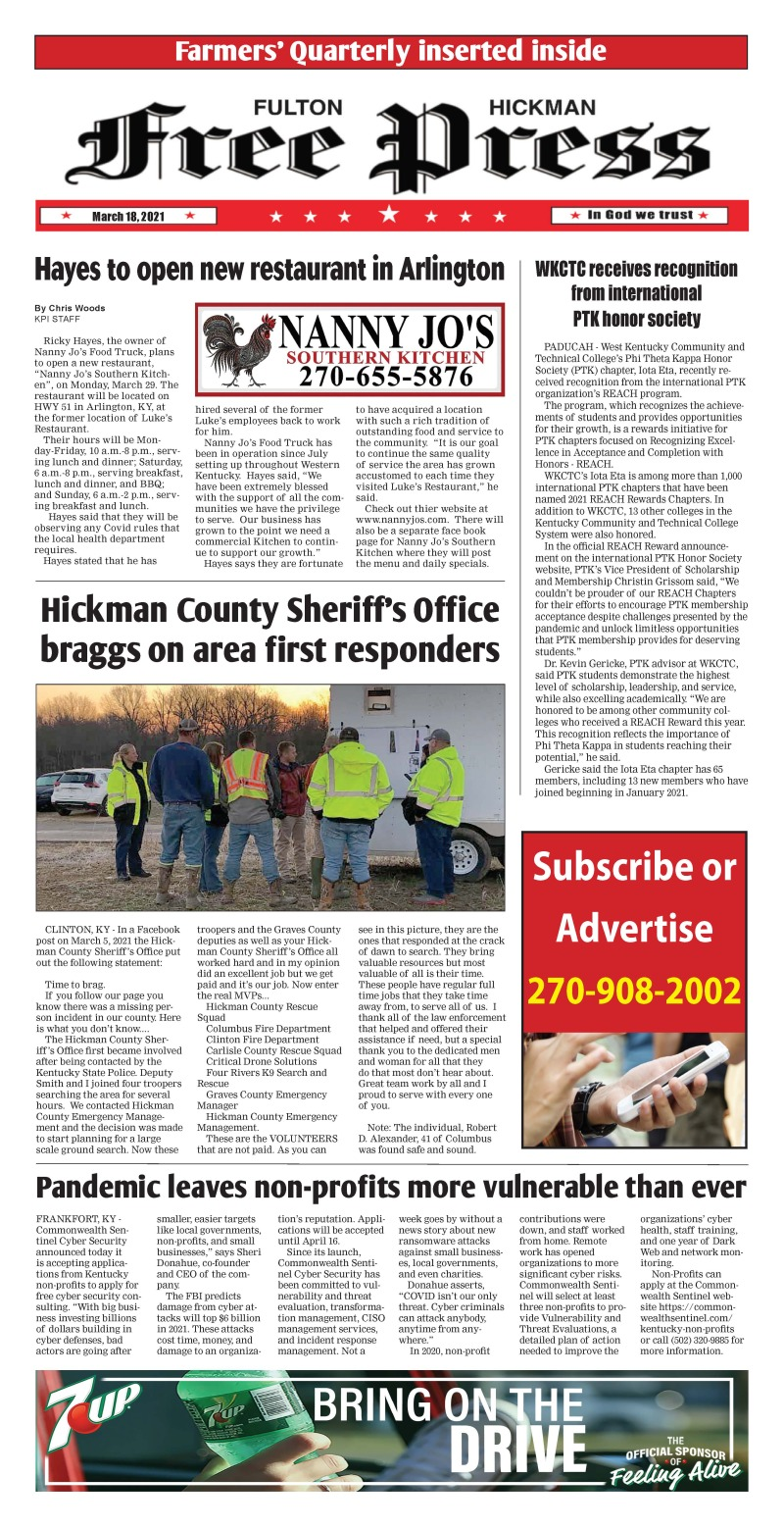 Fulton Hickman Free Press 3-18-21
