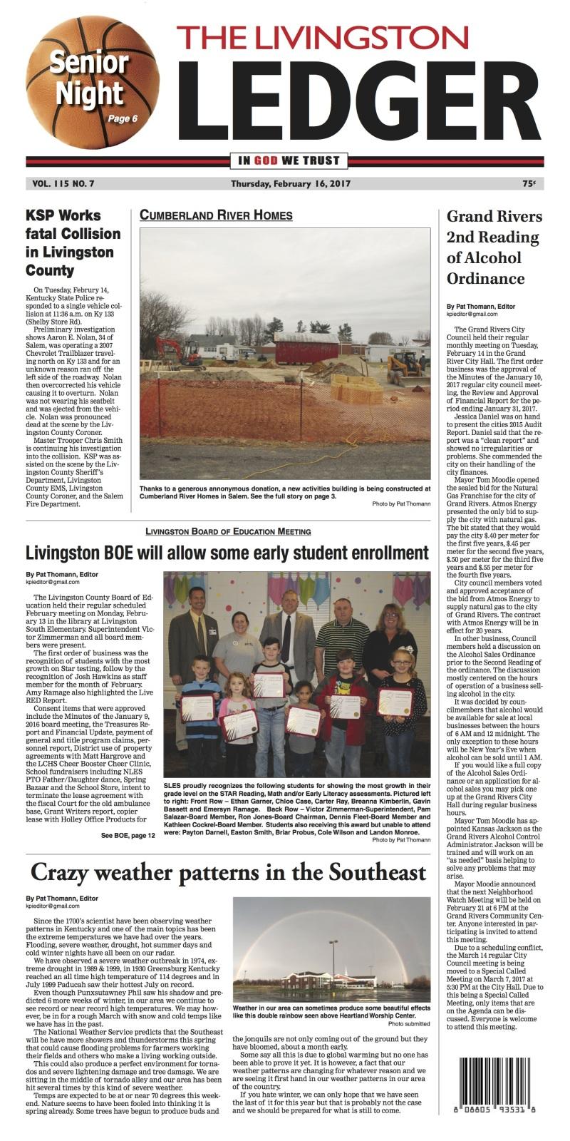 Livingston Ledger 2-16-17