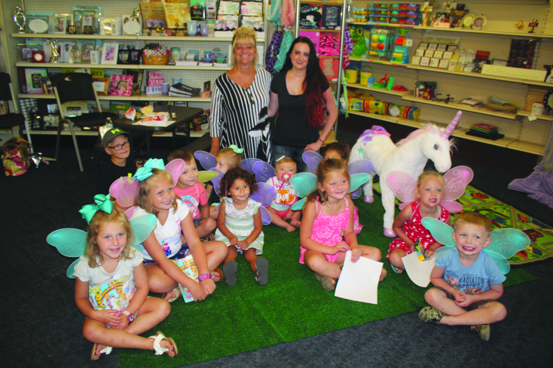 Brantley holds story hour for children