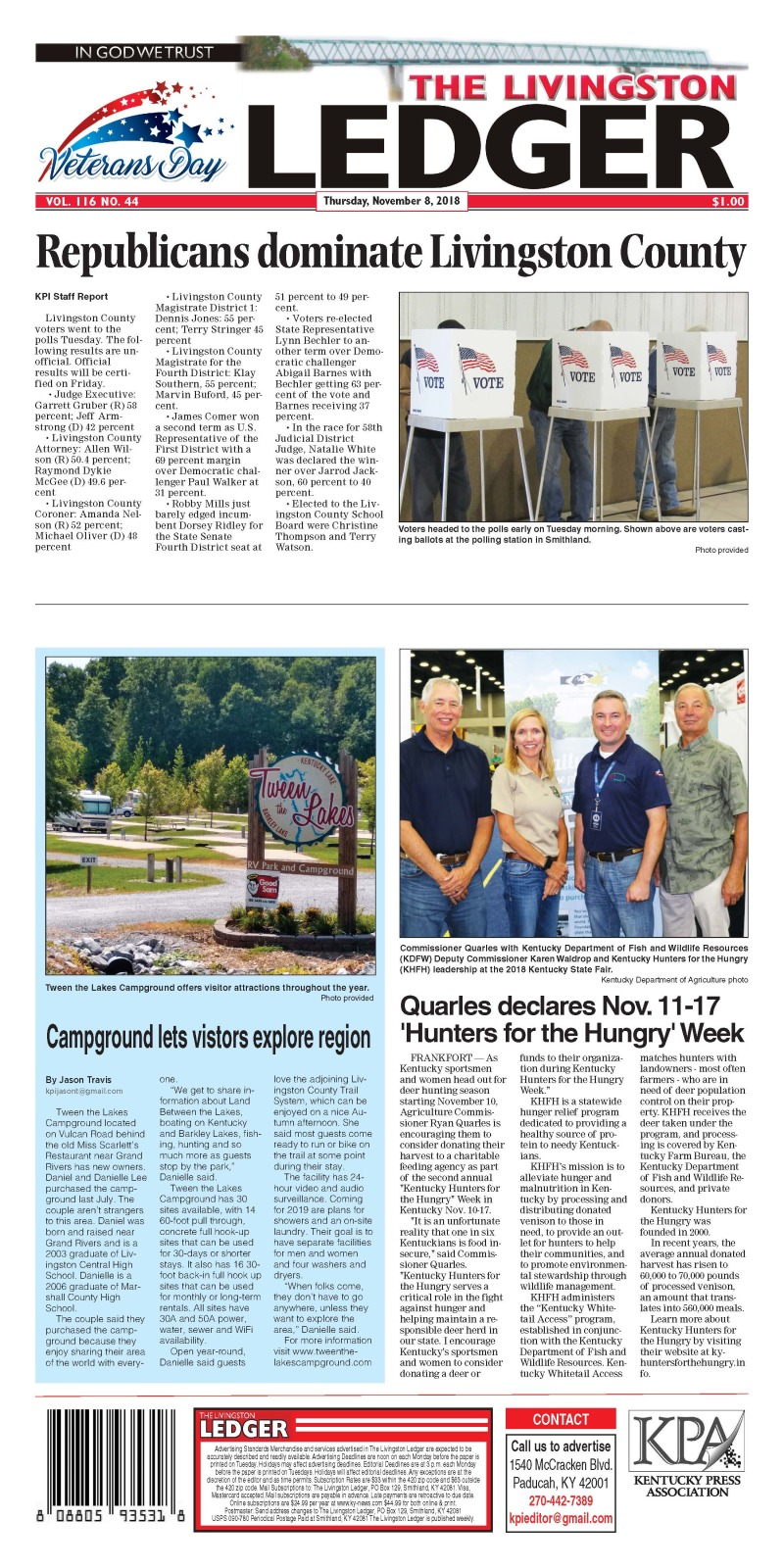Livingston Ledger 11-8-18