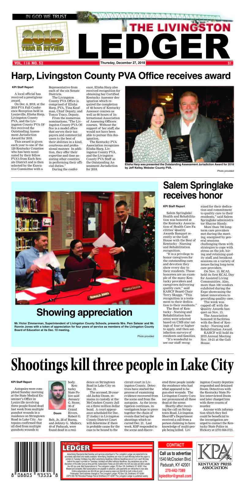 Livingston Ledger 12-27-18