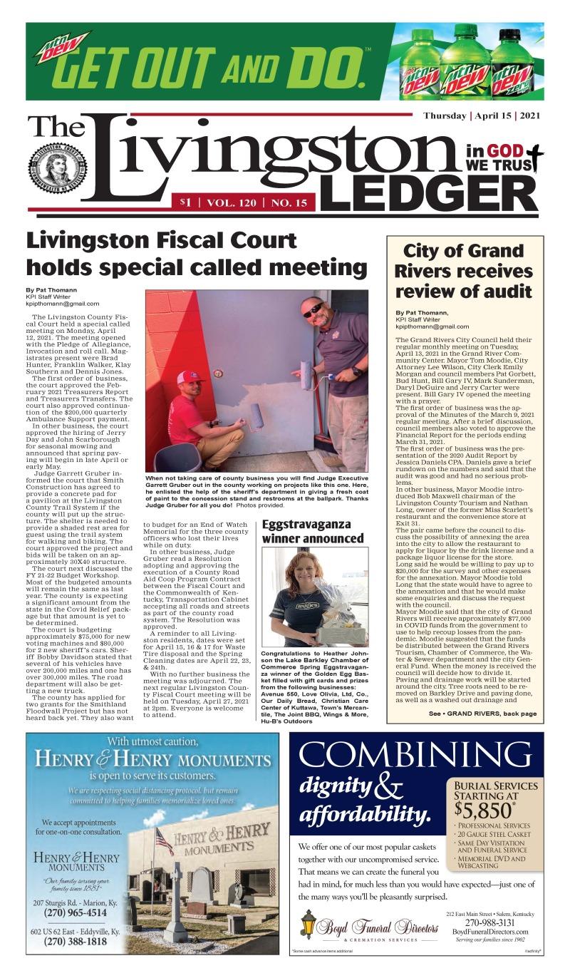 Livingston Ledger 4-15-21