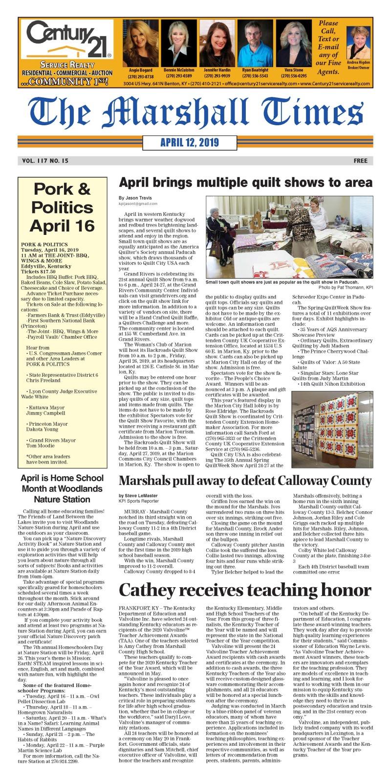 The Marshall Times 4-12-19
