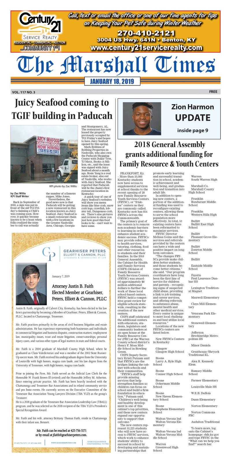 The Marshall Times 1-18-19