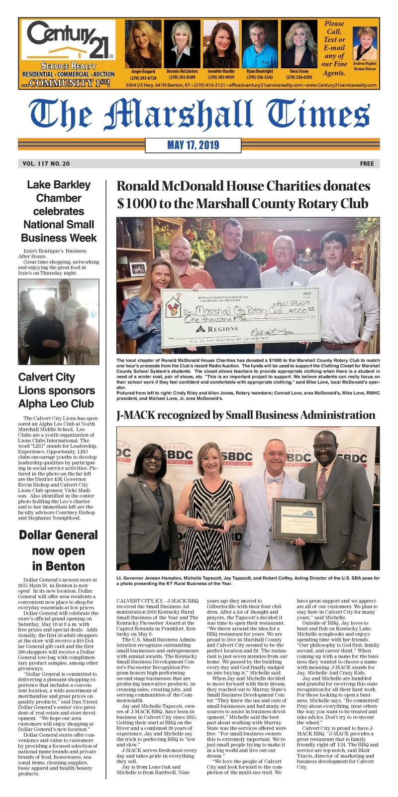 The Marshall Times 5-17-19
