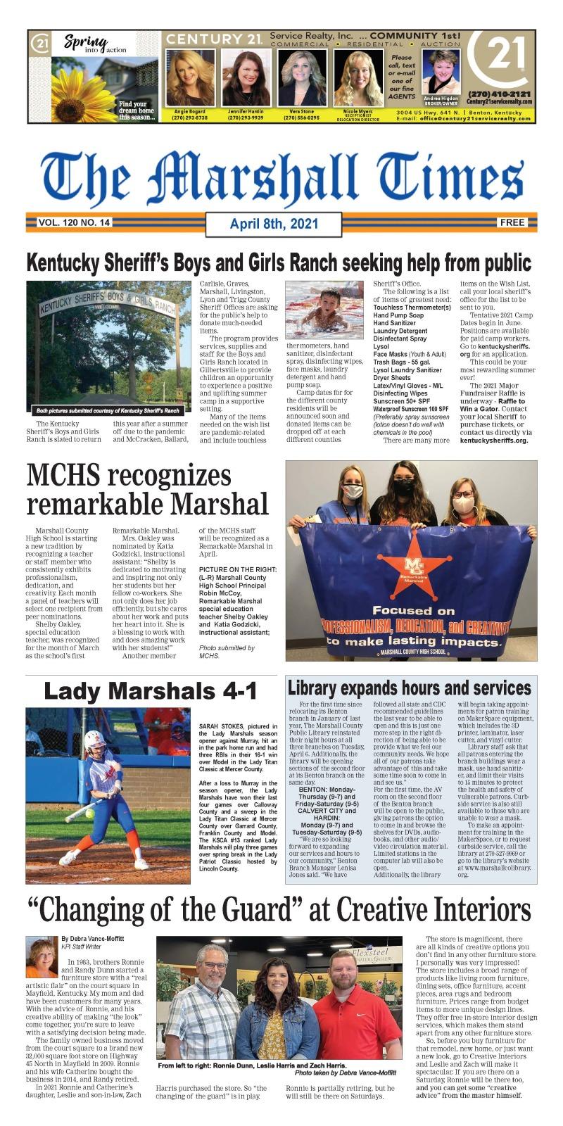The Marshall Times 4-8-21