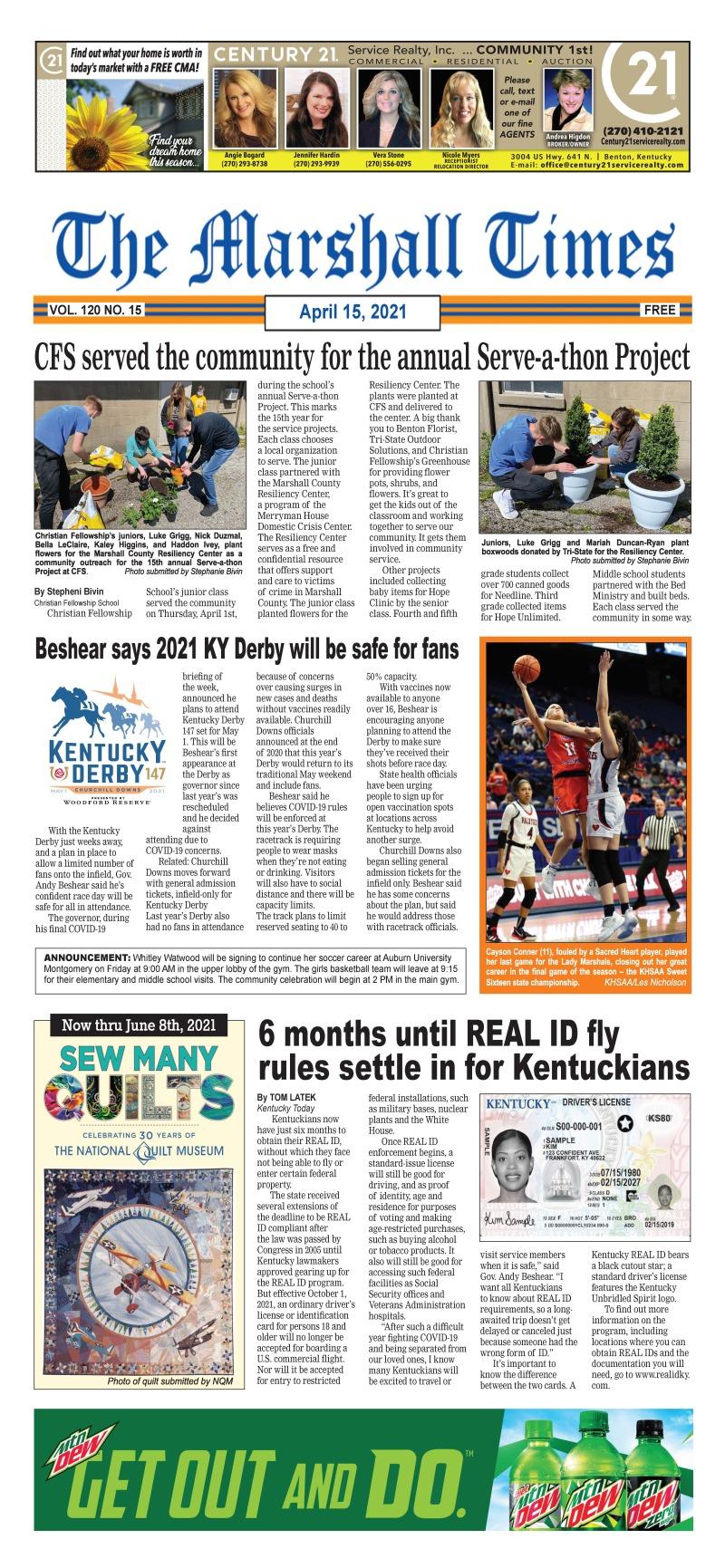 The Marshall Times 4-15-21