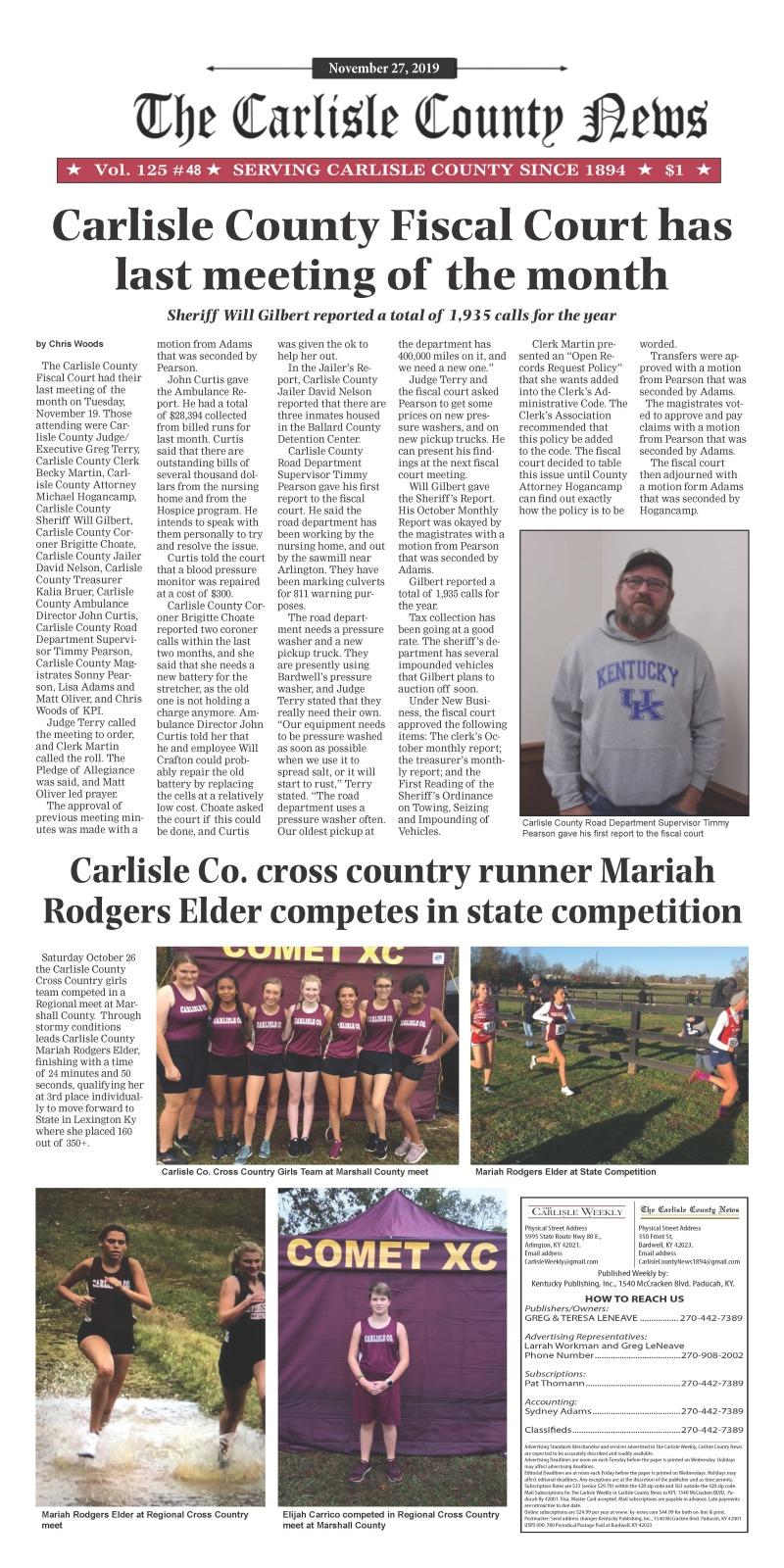 Carlisle County News 11-26-19